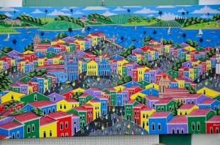 BRESIL - Salvador da Bahia Tableau du Pelourinho