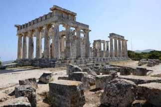 GRECE - Iles du Golfe Saronique Egine Temple d'Aphaia
