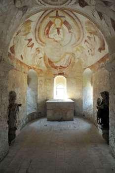 SARTHE Fresques de la chapelle St-Gilles, à Montoire-sur-Loir