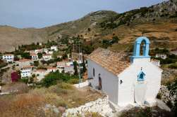 GRECE - Iles du Golfe Saronique Hydra Chapelle au-dessus de la ville d'Hydra