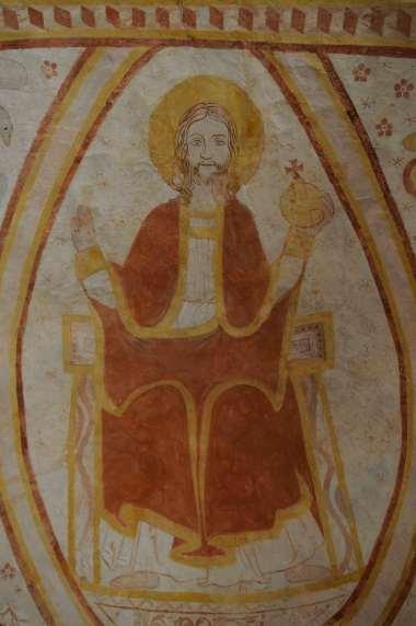 SARTHE - Alpes Mancelles Saint-Céneri-le-Gerei Fresques dans l'église