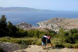 GRECE - Iles du Golfe Saronique Hydra Rando vers le monastère du prophète Elie, sur le mont Eros