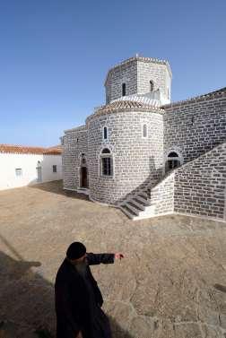 GRECE - Iles du Golfe Saronique Hydra Monastère du prophète Elie, sur le mont Eros