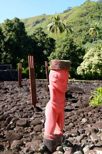 Polynésie Française Tahiti Au marae de Arahurahu