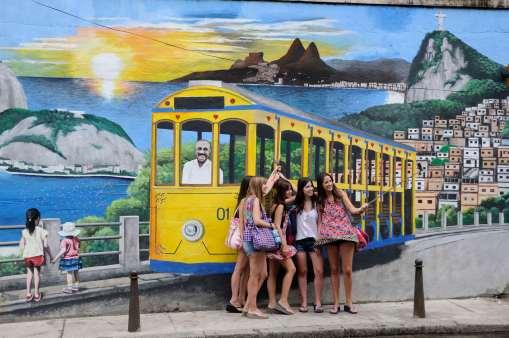 BRESIL - Rio de Janeiro Fresque murale dans le quartier Santa Teresa