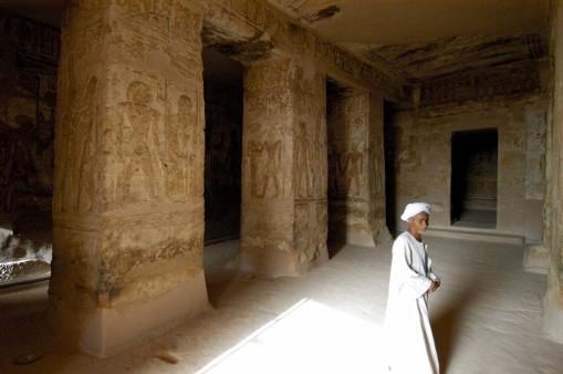 EGYPTE - Basse Nubie Temple rupestre de Derr Gardien de la seconde salle hypostyle