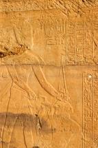 EGYPTE - Basse Nubie Temple de Kalabcha Relief représentant la victoire du pharaon Ramsès II