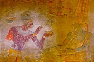 EGYPTE - Basse Nubie Temple de Kalabcha Bas-reliefs peints