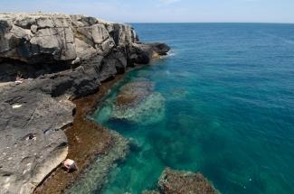 ITALIE - Pouille Côte rocheuse vers Santa Cesarea di Terme