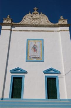 ITALIE - Pouille Façade d'une église de pêcheurs sur les remparts de Gallipoli