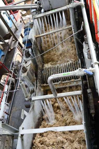 GUADELOUPE Basse-Terre Distillerie Bologne De l'eau rince la bagasse