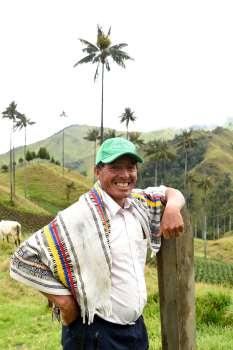 COLOMBIE Don Luis, au mirador de la vallée de Samaria, au coeur de la région des palmiers de cire