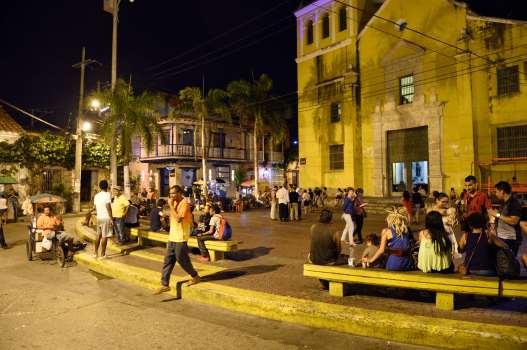 COLOMBIE - Carthagène Place de la Trinité, dans le quartier de Getsemani