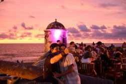 COLOMBIE - Carthagène Café del Mar, sur les remparts, pour admirer le coucher de soleil
