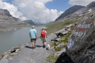SUISSE - Valais Loèche-les-Bains Lac Daubensee, accessible par le téléphérique de la Gemmi