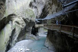 SUISSE - Valais Vers Martigny Gorges du Trient