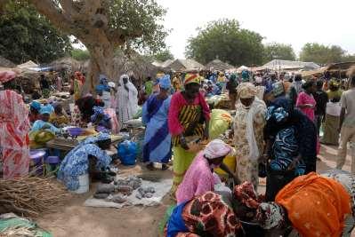SENEGAL Sine Saloum Marché hebdomadaire à Nguéniène