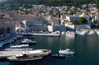 CROATIE - Dubrovnik Vieux port
