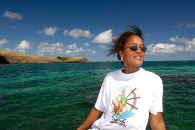 MARTINIQUE Les fonds blancs du François Danielle Egremont, capitaine de la Belle Kréole Devant l'îlet Thierry