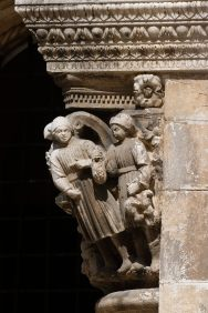 CROATIE - Dubrovnik Chapiteau d'une colonne du Palais du Recteur