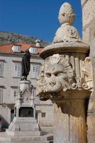 CROATIE - Dubrovnik Fontaine de la place Gundulic