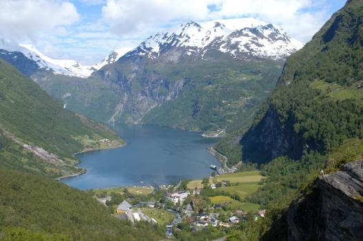 NORVEGE Vue du fjord de Geiranger