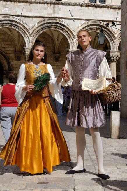 CROATIE - Dubrovnik Personnages en costume médiéval