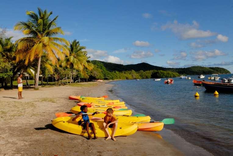MARTINIQUE Presqu'île de la Caravelle Plage et club nautique de Spoutourne
