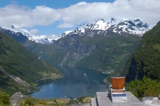 NORVEGE Vue sur le Geirangerfjord