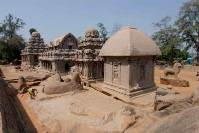 INDE du SUD Mahabalipuram Les Cinq Ratha