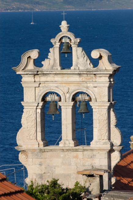 CROATIE Clocher de l'église de Korcula-ville