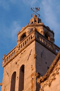 CROATIE Ile de Korcula Clocher de la cathédrale de Korcula-ville