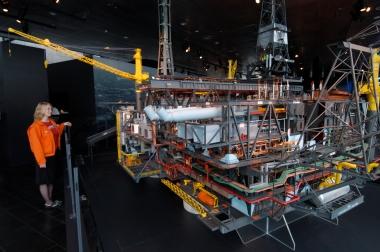 NORVEGE Stavanager Maquette de plate-forme pétrolière au musée du Pétrole