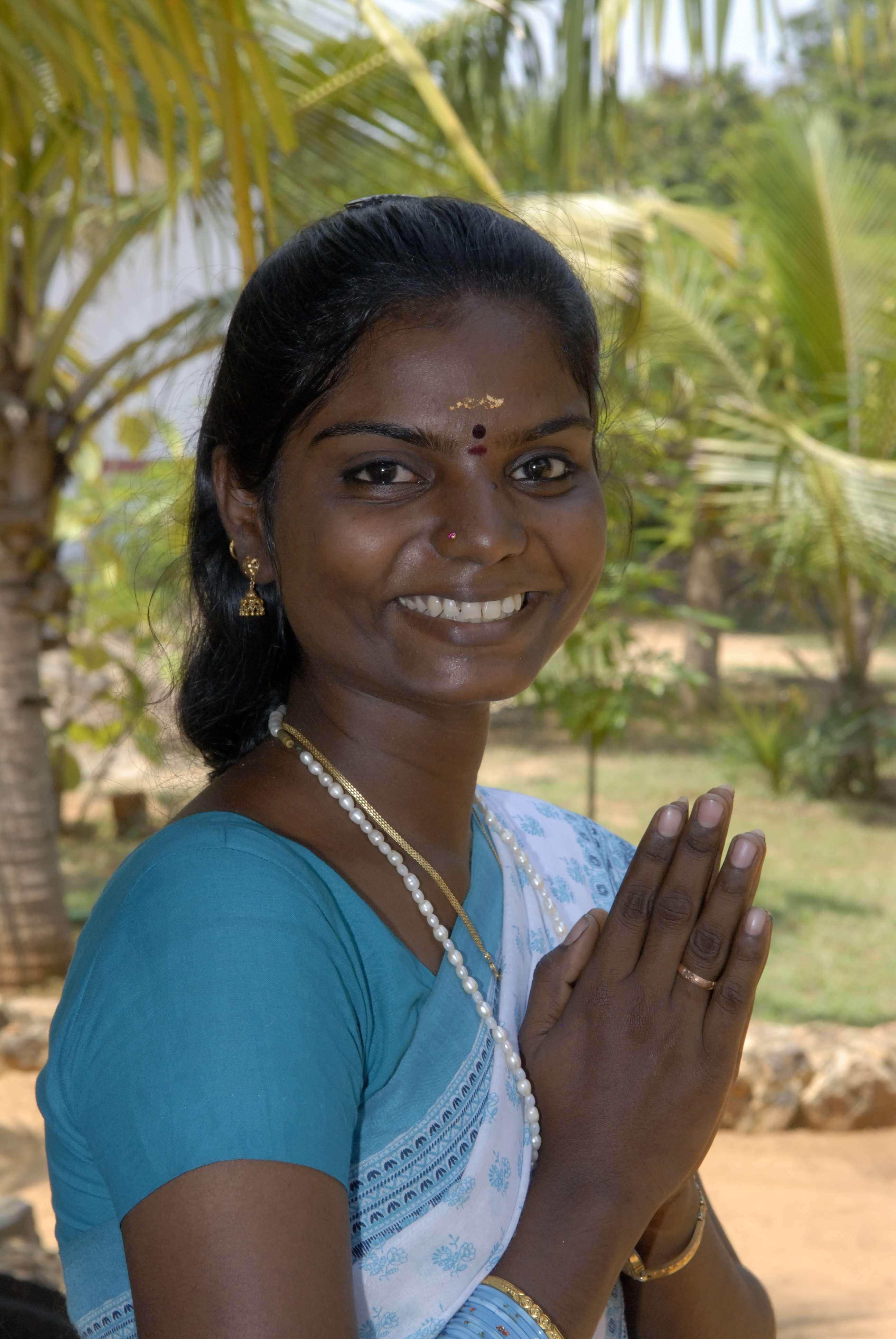 INDE du SUDMuttukadu Jeune femme
