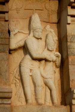 INDE du SUD Gangakondacholapuram Temple de Brihadishwara, temple Chola consacré à Shiva Bas-relief