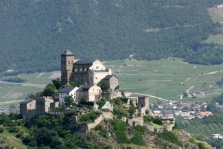 SUISSE - Valais Sion Basilique de Valère