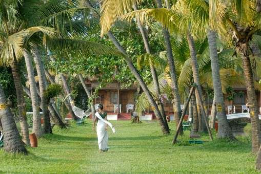 INDE du SUD Kerala Kumarakom, backwaters Hotel Coconut Lagoon