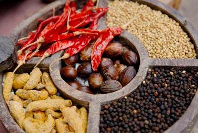 INDE du SUD Kerala Cochin Quartier juif Boutique d'épices