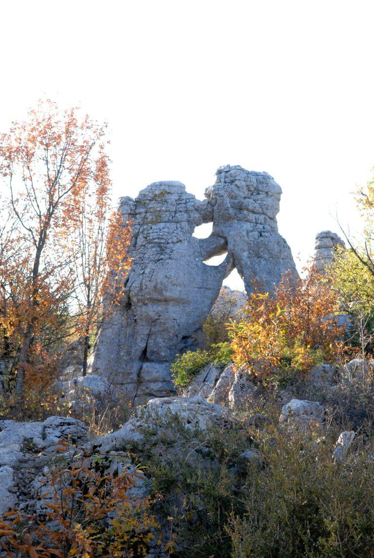 ARDECHE Rocher ruiniforme du bois de Païolive