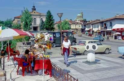 BULGARIE Place Tsar Assen 1er à Veliko Turnovo