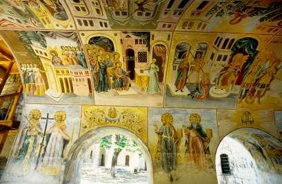BULGARIE Fresques du monastère de Bachkovo