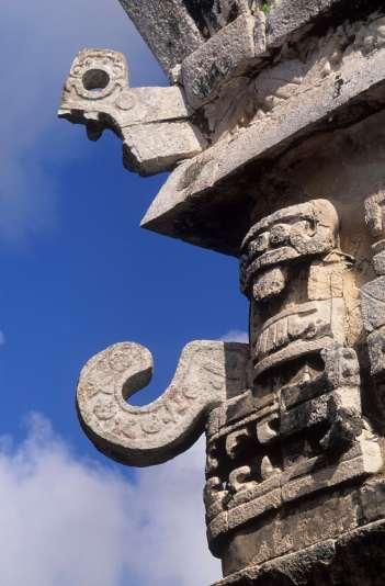 MEXIQUE - Yucatan Chitzen Itza, masque du dieu Chac