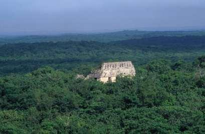 MEXIQUE - Yucatan Ruine noyée dans la jungle à Uxmal