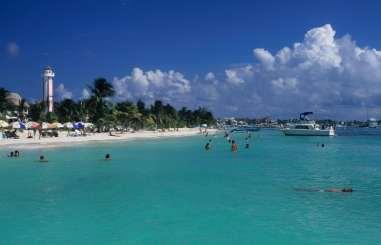 MEXIQUE - Yucatan Plage d'Isla Mujeres