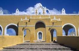 MEXIQUE - Yucatan Couvent franciscain d'Izamal