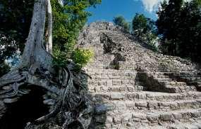 MEXIQUE - Yucatan Pyramide du groupe Coba