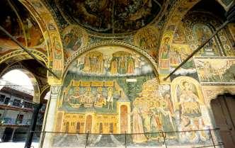 BULGARIE Fresque du monastère de Troyan