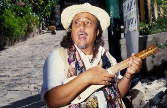Chanteur folklorique à Masca