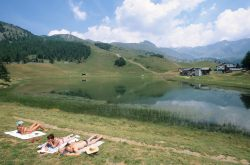 ITALIE - Val d'Aoste Valtournenche Lac de Lod vers Chamois