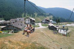 ITALIE - Val d'Aoste Valtournenche Télésiège à Chamois